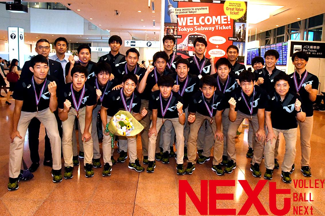 アジアカップ男子、銅メダルを下げて凱旋!