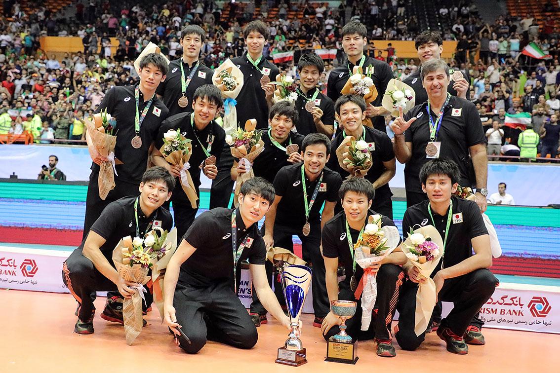 アジア男子バレーボール選手権/日本は銅メダル獲得。石川祐希がベストアウトサイドスパイカー、山本智大がベストリベロに輝く